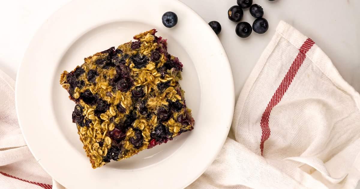 Baked Blueberry Buttermilk Oatmeal