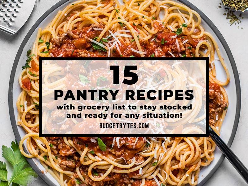 15 Pantry Recipes For Emergency Preparedness
