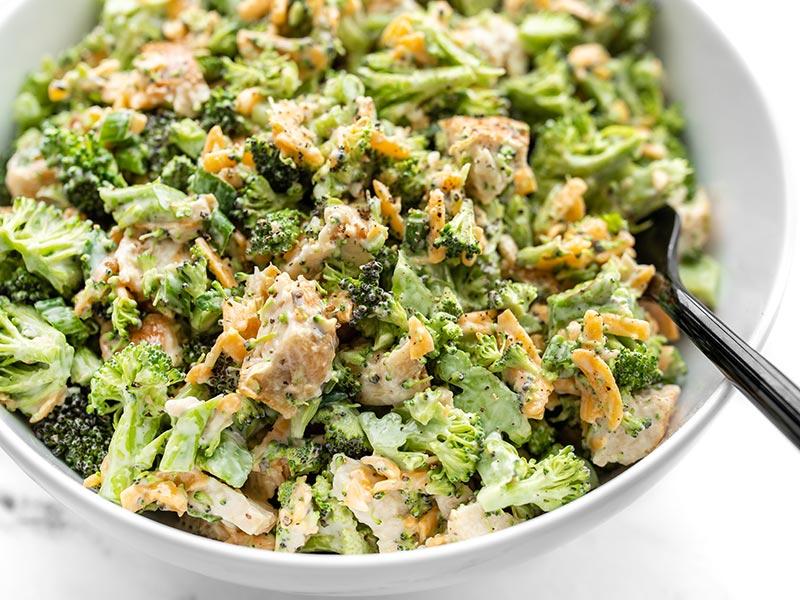 Broccoli Cheddar Chicken Salad